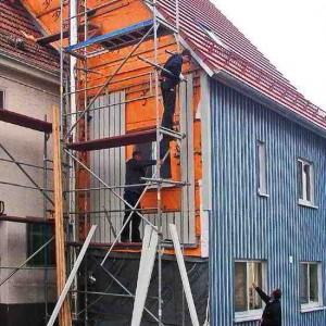 32 - Montage Der Schalung An Der Aussenfassade